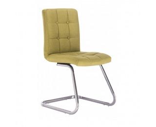 Jedálenská stolička Lavinia - zelená / chróm
