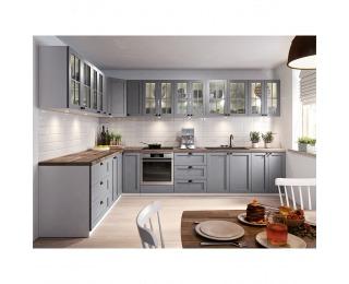Kuchyňa Layla - sivá matná / biela