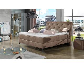 Čalúnená manželská posteľ s úložným priestorom Lazio 160 - hnedá