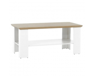 Konferenčný stolík Leon MZ17 - biela / dub grand