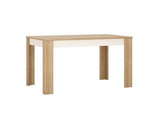 Rozkladací jedálenský stôl Leonardo LYOT03 - dub riviera / biela