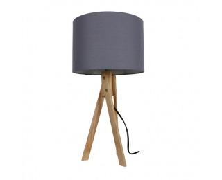 Stolná lampa Lila Typ 2 - sivá / prírodná