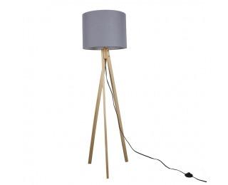 Stojacia lampa Lila Typ 7 - sivá / prírodná