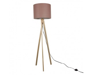 Stojacia lampa Lila Typ 8 - hnedá / prírodná