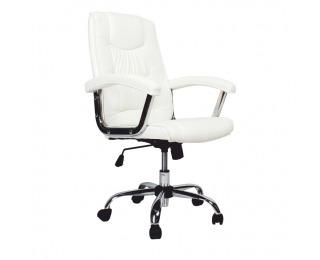 Kancelárske kreslo s podrúčkami Lionel 1658LC - biela / chróm