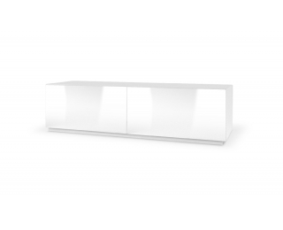TV stolík Livo 160S - biela / biely lesk