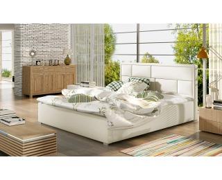 Čalúnená manželská posteľ s roštom Liza 140 - béžová