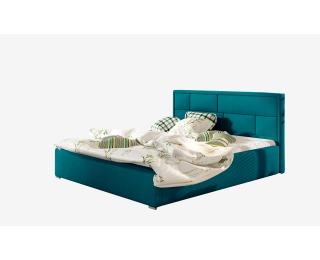 Čalúnená manželská posteľ s roštom Liza UP 140 - tyrkysová