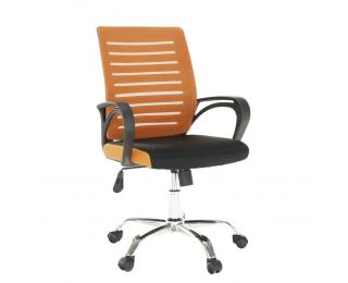 Kancelárska stolička Lizbon New - oranžová / čierna