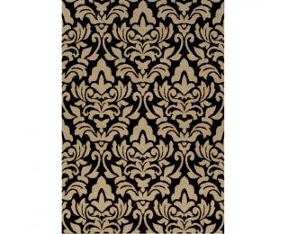 Koberec Lorens 133x190 cm - béžová / tmavohnedá