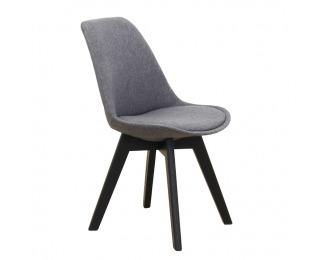 Jedálenská stolička Lorita - tmavosivá / čierna