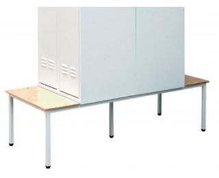 Obojstranná lavica k šatňovej skrini LS-400/DS/480 - svetlosivá