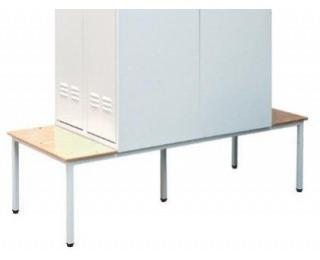 Obojstranná lavica k šatňovej skrini LS-600/DS/480 - svetlosivá