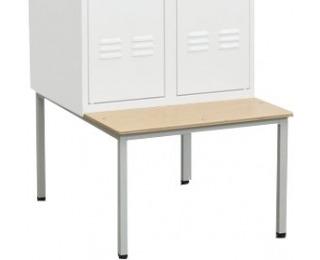 Jednostranná lavica k šatňovej skrini LS-800/JS/480 - svetlosivá