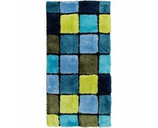 Koberec Ludvig 80x150 cm - svetlomodrá / tmavomodrá / zelená