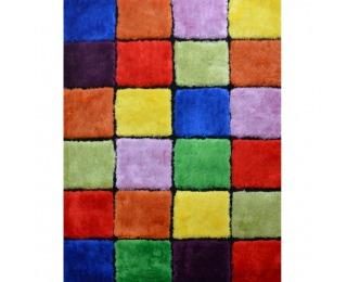Koberec Ludvig Typ 4 100x140 cm - červená / zelená / žltá / fialová