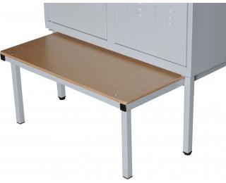 Výsuvná lavica k šatňovej skrini LW-600/JS/480 - svetlosivá