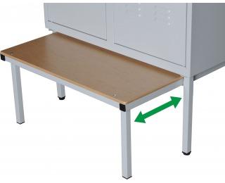 Výsuvná lavica k šatňovej skrini LW-800/JS/480 - svetlosivá