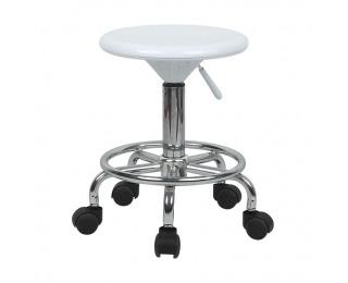 Stolička na kolieskach Mabel 2 New - biela / chróm
