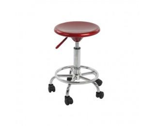 Stolička na kolieskach Mabel 2 New - červená / chróm