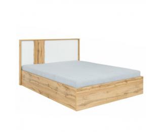 Manželská posteľ s osvetlením Vodena 160 - dub wotan / biela