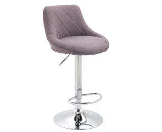 Barová stolička Marid - sivohnedá (taupe) / chrómová