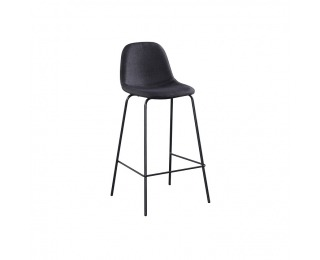 Barová stolička Mariola New - tmavosivá / čierna