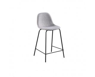 Barová stolička Mariola New - svetlosivá / čierna