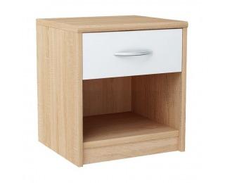 Nočný stolík Marker - dub sonoma / biela