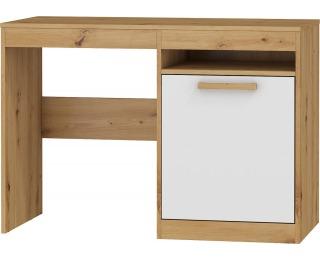 PC stôl Maximus MXS-02 - dub artisan / biely lesk