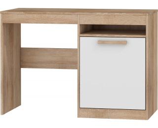 PC stôl Maximus MXS-02 - sonoma svetlá / biely lesk