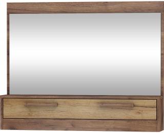 Zrkadlo na stenu Maximus MXS-14 - craft tobaco / craft zlatý