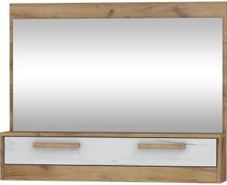 Zrkadlo na stenu Maximus MXS-14 - craft zlatý / craft biely
