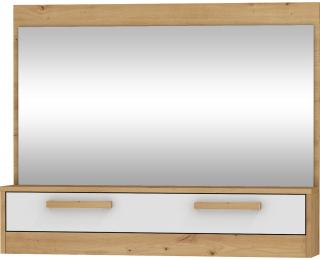 Zrkadlo na stenu Maximus MXS-14 - dub artisan / biely lesk