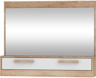 Zrkadlo na stenu Maximus MXS-14 - sonoma svetlá / biely lesk