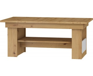 Rozkladací konferenčný stolík Maximus MXS-17 - dub artisan / biely lesk