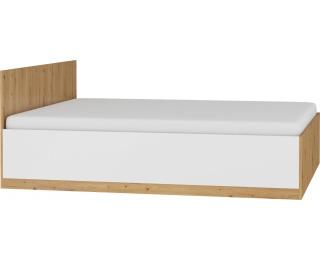 Manželská posteľ s roštom Maximus MXS-18 160 - dub artisan / biely lesk