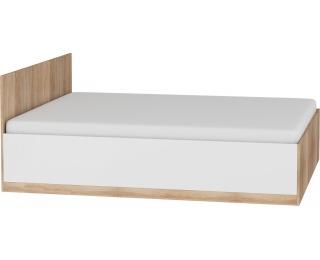 Manželská posteľ s roštom Maximus MXS-18 160 - sonoma svetlá / biely lesk