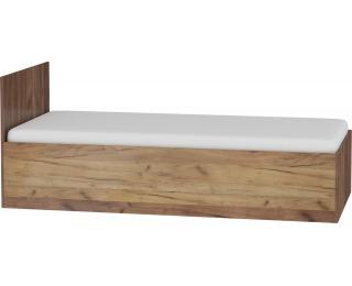 Jednolôžková posteľ s roštom Maximus MXS-19 90 - craft tobaco / craft zlatý