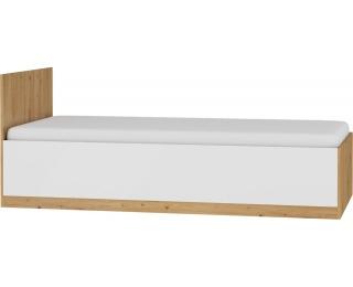 Jednolôžková posteľ s roštom Maximus MXS-19 90 - dub artisan / biely lesk
