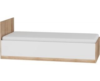 Jednolôžková posteľ s roštom Maximus MXS-19 90 - sonoma svetlá / biely lesk