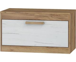 TV stolík Maximus MXS-33 - craft zlatý / craft biely