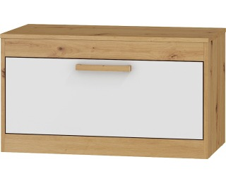 TV stolík Maximus MXS-33 - dub artisan / biely lesk