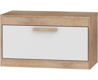 TV stolík Maximus MXS-33 - sonoma svetlá / biely lesk