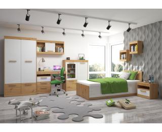 Študentská izba Maximus - dub artisan / biely lesk
