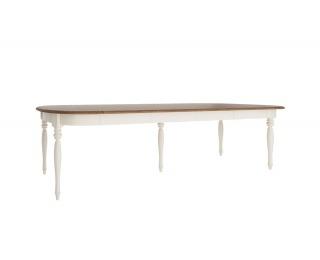 Rozkladací jedálenský stôl so skrinkou Florencja FL-S1 - vanilka / dub Florencja