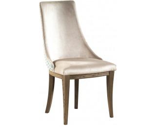 Jedálenská stolička Krzeslo U1 - svetlohnedá / mentolový vzor / dub Como