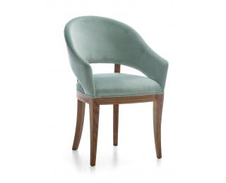 Jedálenské kreslo Krzeslo U2 - svetlozelená (Prestige-A3 67) / dub Como
