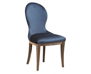 Jedálenská stolička Krzeslo U3 - tmavomodrá (Velvet-B1 261) / dub Como