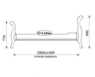 Rustikálna manželská posteľ s roštom Orfeusz O 160 - toffi